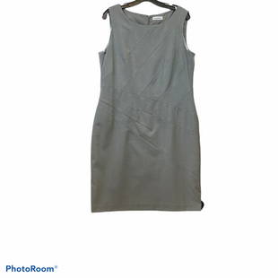 Primary Photo - BRAND: CALVIN KLEIN STYLE: DRESS SHORT SLEEVELESS COLOR: GREY SIZE: 14 SKU: 311-31120-9475