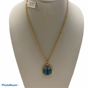 Primary Photo - BRAND: ALEX AND ANI STYLE: NECKLACE COLOR: BLUE GREEN OTHER INFO: BLUE LOTUS 18 OR 21 IN STERLING SILVER 14K GOLD SKU: 311-31116-1556