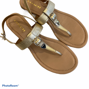 Sandals Flat By Coach  Size: 10 - BRAND: COACH STYLE: SANDALS FLAT COLOR: GOLD SIZE: 10 SKU: 311-31111-24568