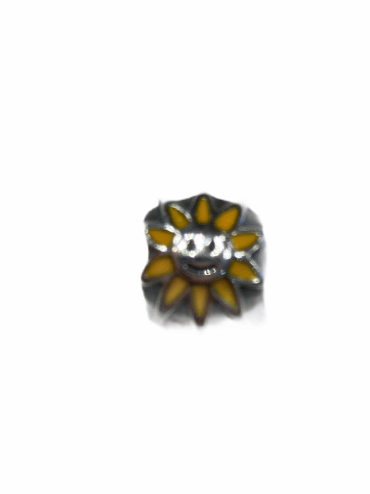 Cm Label By Pandora - BRAND: PANDORA <BR>STYLE:  CM LABEL <BR>COLOR: SILVER <BR>OTHER INFO: YELLOW SMILE, FLOWER <BR>SKU: 311-31120-13396