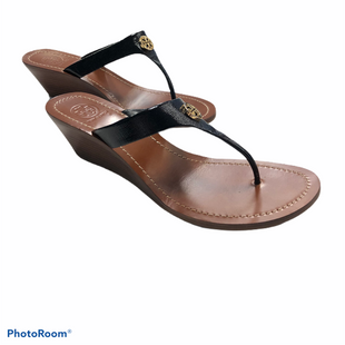 Shoes Designer By Tory Burch  Size: 9.5 - BRAND: TORY BURCH STYLE: SHOES DESIGNER COLOR: BLACK SIZE: 9.5 OTHER INFO: NEW WEDGE SANDAL SKU: 311-31130-3070