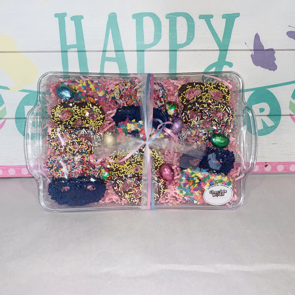 Assorted Easter Pretzel Platter - Chocolate Works of Bellmore