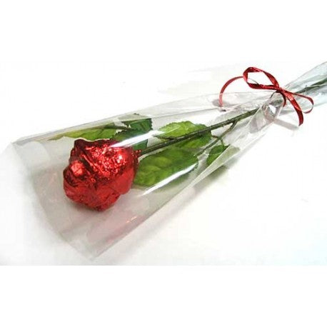 Long-stem Chocolate Rose - Chocolate Works of Bellmore