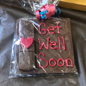 Get Well Soon Chocolate Plaque