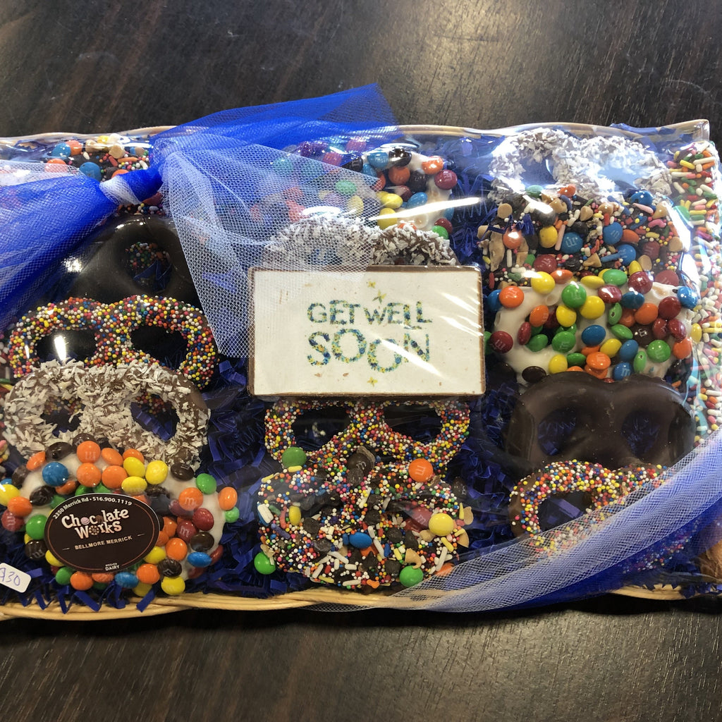 Get Well Soon 17 pc Assorted Pretzel Tray