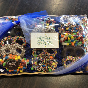 Get Well Soon Assorted Pretzel Tray