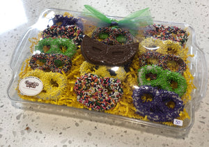 Purim Chocolate Pretzel Platter