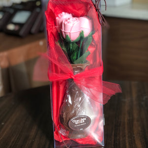 Chocolate Roses in a Chocolate Vase