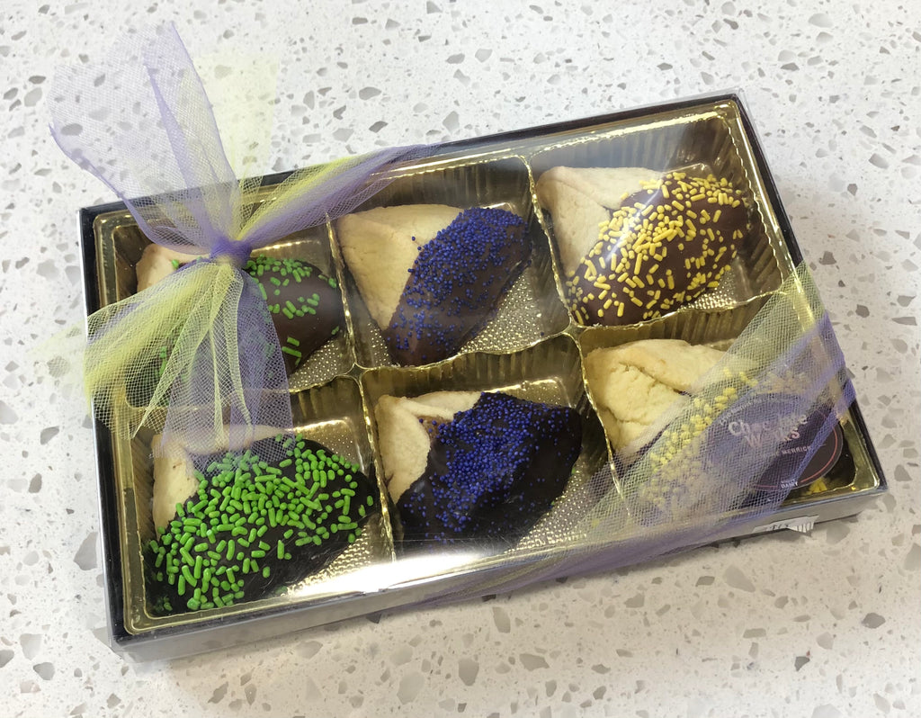 Purim Chocolate Dipped Hamentashen Box
