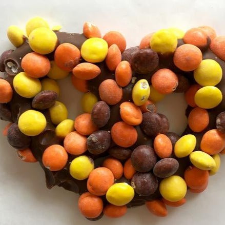 Reese's pieces pretzels - Chocolate Works of Bellmore
