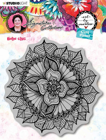 Art By Marlene Cling Stamp Boho Chic
