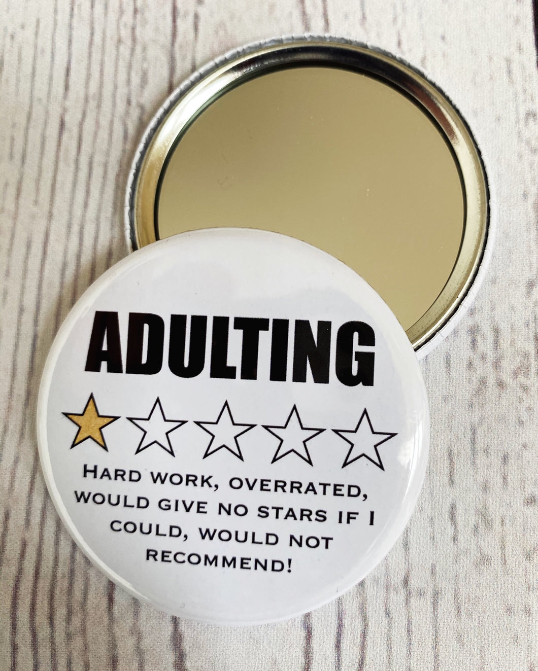 Adulting pocket mirror
