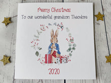 Load image into Gallery viewer, Peter Rabbit Personalised Christmas Card