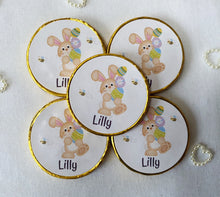 Load image into Gallery viewer, 5 x Personalised Easter Milk Chocolate coins