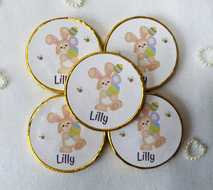 5 x Personalised Easter Milk Chocolate coins