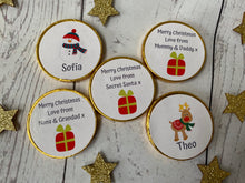 Load image into Gallery viewer, 5 x Personalised Milk Chocolate Christmas coins