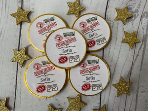 5 x Christmas Milk Chocolate coins