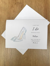 Load image into Gallery viewer, Personalised Heels Wedding will you be my bridesmaid card