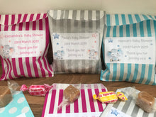 Load image into Gallery viewer, Personalised Baby Shower Sweet Bags Baby Elephant Pink/Blue/Grey Favour Treat - Gender reveal