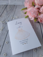Load image into Gallery viewer, Personalised Will you be our flower girl Card