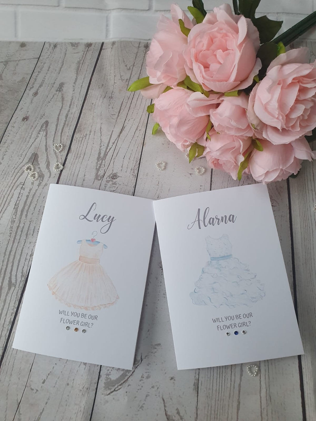 Personalised Will you be our flower girl Card