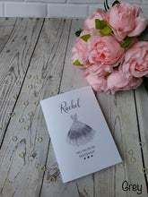 Load image into Gallery viewer, Personalised Will you be my Bridesmaid Card - Dress  - Any role