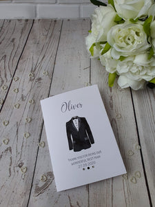 Personalised Thank you Best man card Gift set - Usher - Groomsman