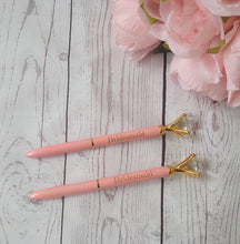 Load image into Gallery viewer, Pink Bridesmaid Diamond Pen - Hen Party Planning Pen