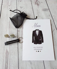 Load image into Gallery viewer, Personalised Will you be my Best man card Gift set - Usher - Groomsman