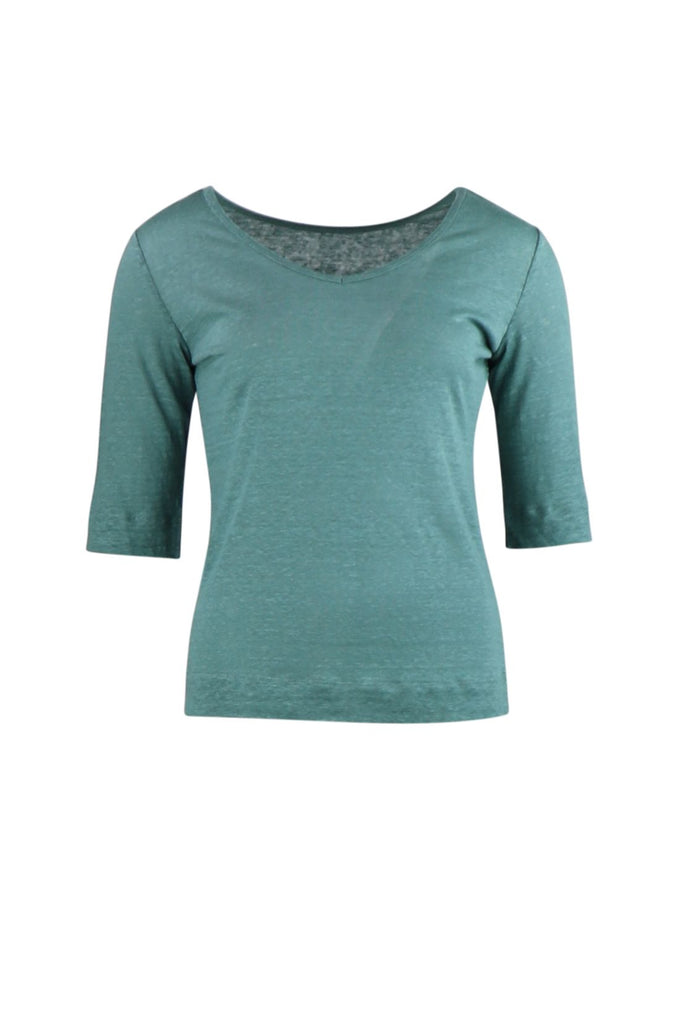reversible top linen(green)