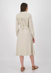 Maxikleid in beige