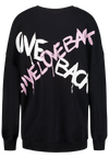GIVE LOVE - Oversized Pullover BIOBAUMWOLLE