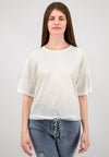 OVERSIZED - T-Shirt mit Knotendetail