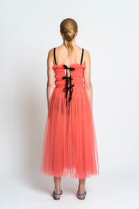 Molly Goddard Shelly dress soft tulle (pink)