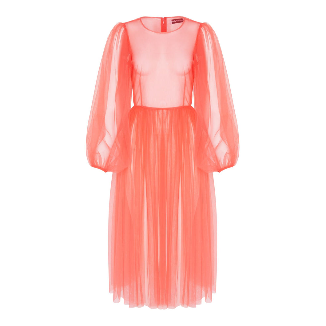 Molly Goddard Areesha dress soft tulle (pink)