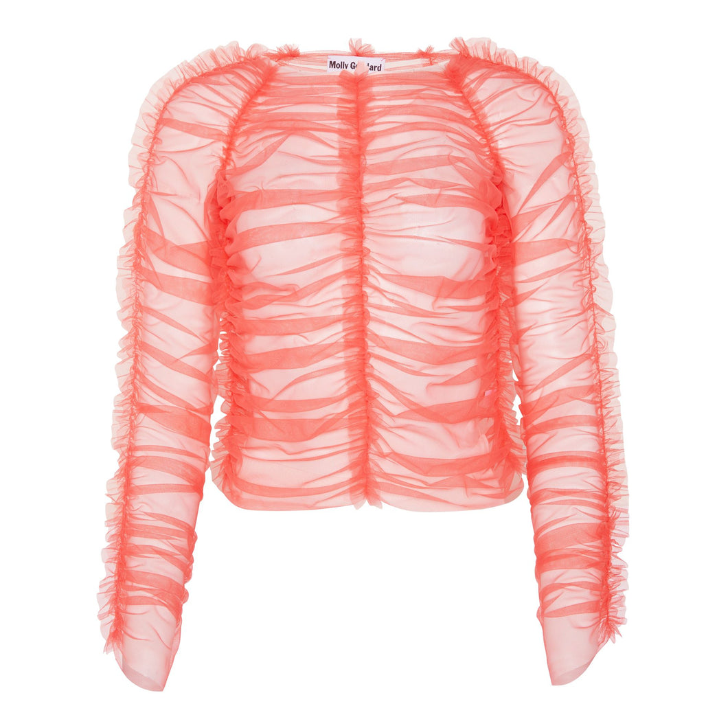 Molly Goddard Una top soft tulle (pink)