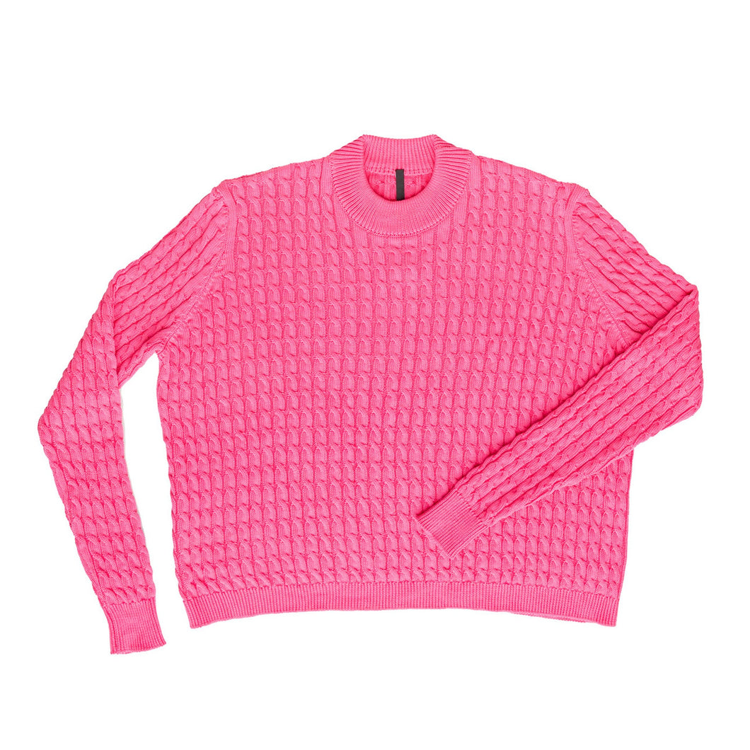Sara Lanzi cable sweater (pink)