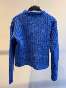 Sara Lanzi cropped pocket sweater (blue)