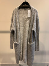 Load image into Gallery viewer, Acne Studios grey melange mohair cardigan