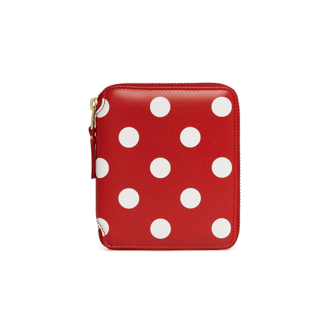 CDG Polka Dots Printed Wallet (Red SA2100PD)
