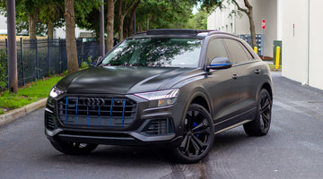 2020 Audi Q8 Satin Black Custom Black Wrap