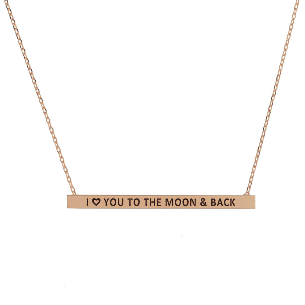 Count Your Blessings Necklace, I LOVE YOU TO THE MOON AND BACK