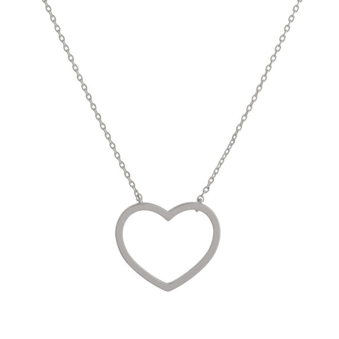 Count Your Blessings Heart Necklace, Silver