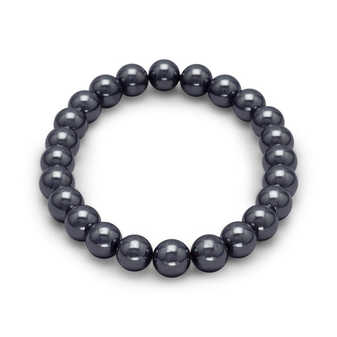Count Your Blessings Hematite Gemstone Stretch Bracelet