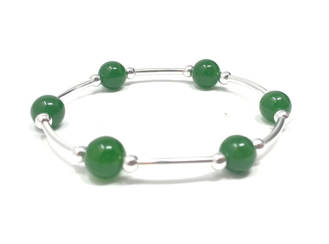 Count Your Blessings Bracelet Green Aventurine Gemstone Smaller Size