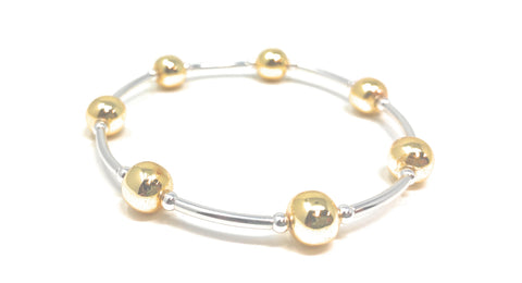 Blessing Bracelet Friendship Silver and Gold