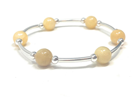 Count Your Blessings Bracelet Yellow Jade, Smaller Size