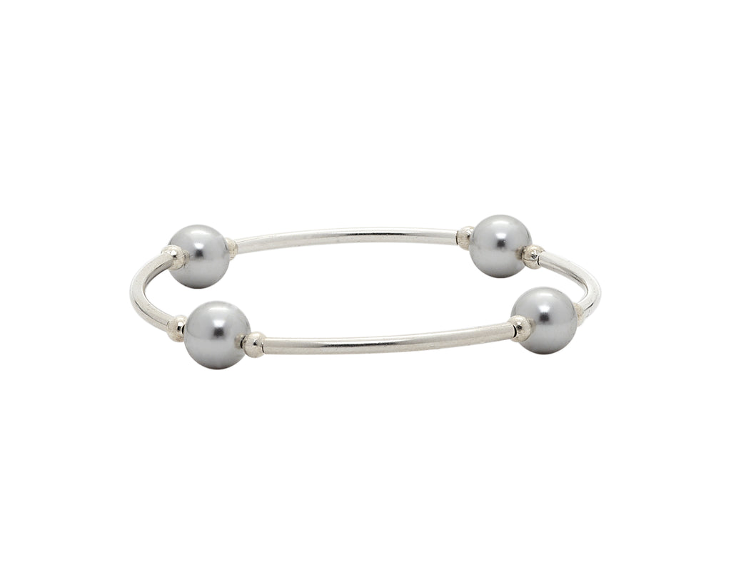 Blessing Bracelets by Count Your Blessings, Genuine Swarovski Silver Pearls & Sterling Silver - 6/5""