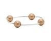 Blessing Bracelet Gold Swarovski Pearl 4 Bead 12mm