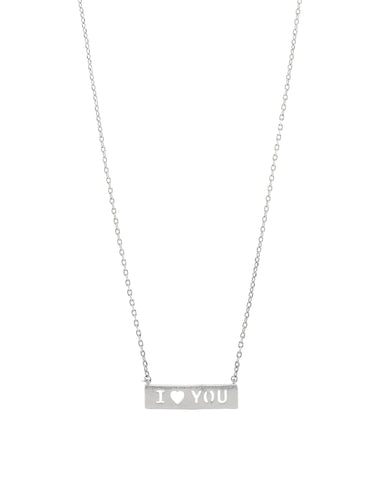 Count Your Blessings Necklace, I LOVE YOU , Silver